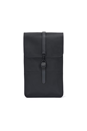 Rains backpack, zaino unisex-adulto, nero (black), 29.0x45.0x10.0 cm (w x h x l)