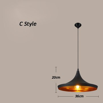 Creative Musical Instrument Black pendant light Bar Coffee Dining Room Office Ceiling Lamp Fixture
