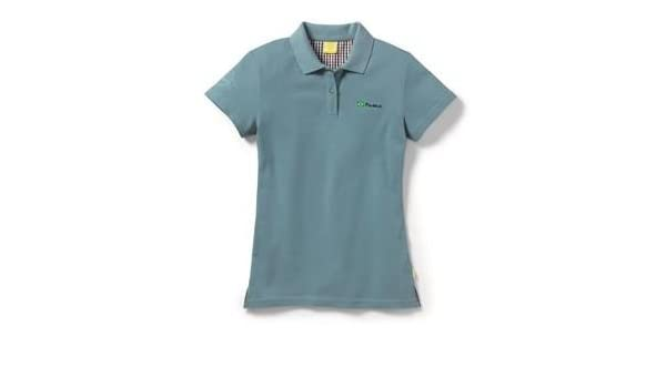 WOMENS BLUE 'FUSCA BRAZIL' POLO T SHIRT GENUINE VW BEETLE COLLECTION MERCHANDISE