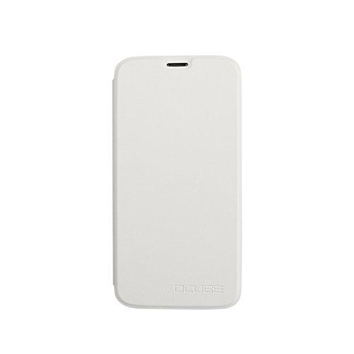 Guran® PU Leder Tasche Etui für Doogee X9 PRO Smartphone Flip Cover Stand Hülle Case-weiß
