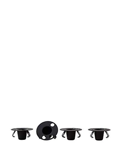 Design Letters - Candle Holder Set for Espresso Cup - Kerzenhalter für Espressotassen-Set - Edelstahl/lackiert - Schwarz - 4er-Set