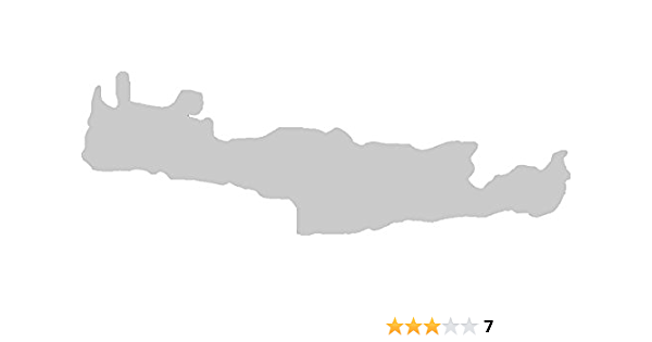 2x Auto Aufkleber Car Sticker Kreta Griechenland Insel Ca 11 X 5 Cm Silber Auto