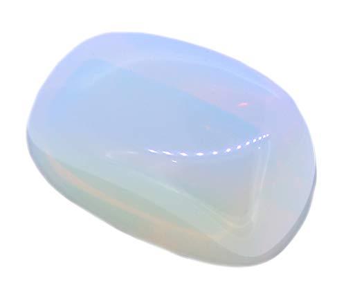 Opalglas Trommelstein ca. 25 mm groß, Handschmeichler Handstein Taschenstein