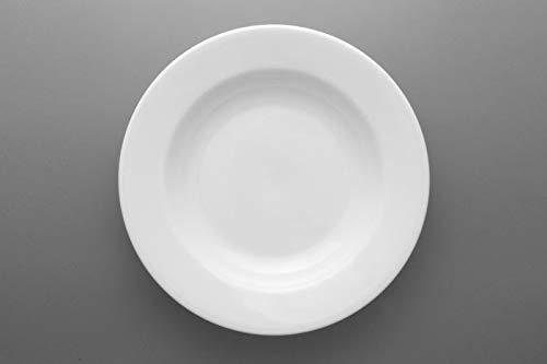 OEM SYSTEMS Accessoires Cuisine Service Assiettes Creuses en céramique Blanche diam 21 cm conf 6 pièces