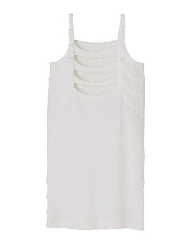 VERTBAUDET Lote 4 Camisetas Tirantes niña Blanco