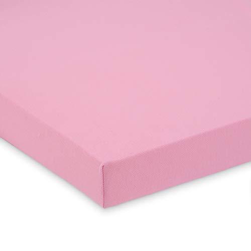 FabiMax 2696 Jersey Spannbettlaken für Laufgitter 100x100 cm, rosa