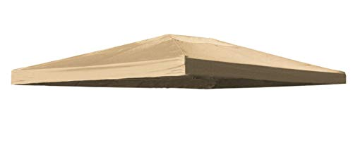 Quick-Star Ersatzdach für Blätter Pavillon 3x4m Pavillondach Sand Ersatzbezug