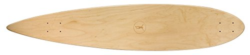 Ridge Skateboards Regal Series Pin Tail Tabla de Longboard, Unisex, Natural-46, 46""