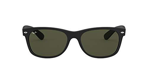Ray-Ban RB2132 New Wayfarer Sonnenbrille, Gr. 52mm (Gestell: schwarz, Gläser: kristall grün)