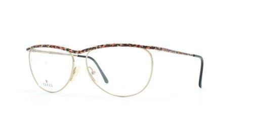 Gucci Damen Brillengestell Schwarz Black Orange Silver
