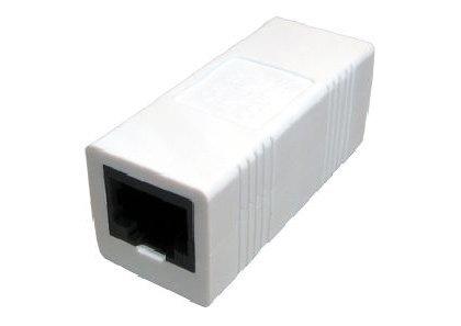 World of Data RJ45 Network Coupler Cat 5e straight - Patch - Ethernet - LAN - WHITE Coloured