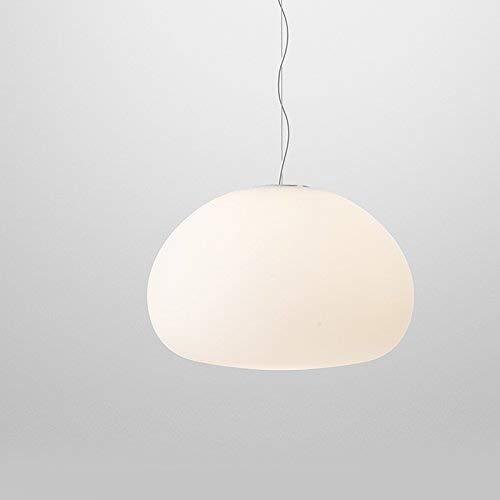 Weiße Seide Kronleuchter (WENYAO Kronleuchter Beleuchtung Nordic minimalistische Moderne kreative Persönlichkeit Wohnzimmer Restaurant Studie weiße Seide Oberfläche Tamaryo Glas Kronleuchter Innenbeleuchtung (Größe: 42cm))