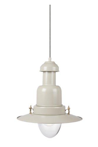 Garden Trading - Lámpara de techo de acero inoxidable (41 cm de altura x 35 cm de diámetro), estilo marinero, color blanco
