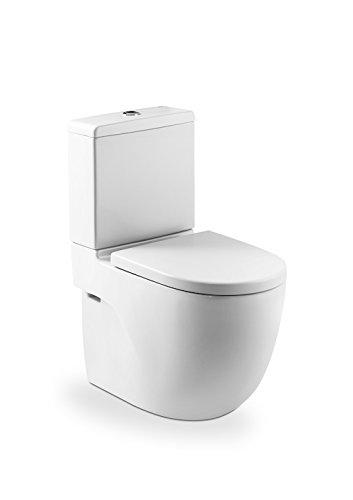 Roca A8012AB004 – Asiento y tapa inodoro compacto, colección Meridian, 41.5 x 36 cm, color blanco
