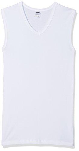 HERMKO 3050 3er Pack Herren Muskelshirt V-Ausschnitt (Weitere Farben), Farbe:weiß, Größe:D 6 = EU L