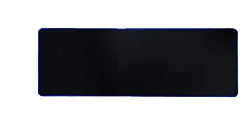 Woodlandu Verl?ngert Gaming Mouse Pad Gen?hte Kanten Geschwindigkeit seidiger Oberfl?che rutschfeste Gummiuntermatten 300x900x3mm/11.8x35.4x0.12inch Blau Edges
