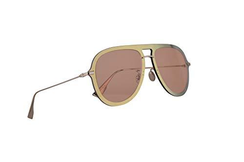 Dior Christian DiorUltime1 Sonnenbrille Gold Rot Mit Pinken Gläsern 57mm XWLJW Diorultime 1 Ultime1