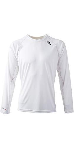 Gill Wasserdichte Hose (Gill Race Langarmshirt T-Shirt Top Weiß - Leichtgewicht. Atmungsaktiv - UV-Sonnenschutz und SPF-Eigenschaften)