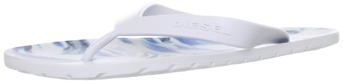 DIESEL FLIP FLOPS PLAJA SPLISH UNISEX ADULTS, WHITE/TOTAL, COLOUR WHITE (SIZE 8 UK = 42 EUR) (White Diesel)