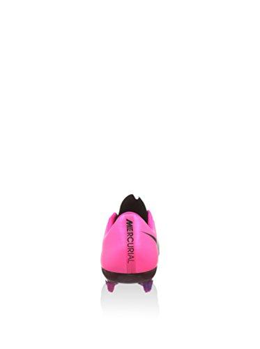 Nike Mercurial Vapor X Leather FG, Chaussures de Football Homme Noir/fuchsia