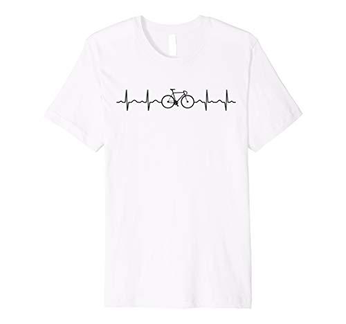 Fahrrad Herzschlag EKG Bike Rennrad Fixie T Shirt