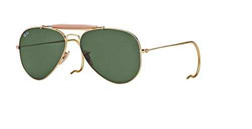 Ray-Ban RB3030 OUTDOORSMAN L0216 58M Arista/Green Crystal Sunglasses