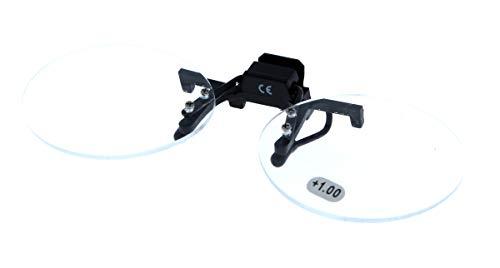 Aufstecker / Vorhänger / Clip - Vorsetzbrille - schwenkbar mit Vergrößerung - verschiedene Stärken / Größen (mittel, +2.0)