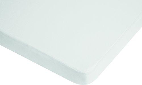 Playshoes 770320-1 Jersey Spanbettlaken Kinderbett, Wasserdicht und Atmungsaktiv, OEKO-TEX Standard 100, 60 x 120 cm, weiß