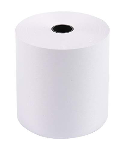 Exacompta 40713E Packung (mit 10 Kassenrollen, 1-lagig Offset economic, ideal für Kassen und Tischrechner, 60g/mq, Breite: 70mm, Durchmesser Kern 12mm, Länge 44m) 1er Pack (1 x 10 Stück) weiß
