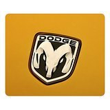 dodge-car-logo-on-yellow-rectangle-mouse-pad