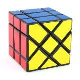 elegantstunning YJ Fisher Cube Black 3x 3x 3Shape MOD Twisty Puzzle Toy 3x 3
