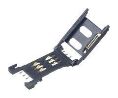 AMPHENOL ICC (COMMERCIAL PRODUCTS) SIM/SAM Memory Socket, 6POS C70710M0065222A Sam Sockets