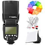 Godox TT685F Blitzgerät HSS 1/8000S GN60 TTL Kamerablitz Flash Speedlite für Fuji Cameras X-Pro2 X-T20 X-T2 X-T1 X-Pro1 X-T10 X-E1 X-A3 X100F X100T mit Farbfilter/Pergear Reinigung Set