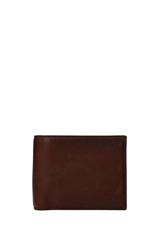 COACH Men's Sport Calf Compact ID Wallet Dark Saddle Wallet