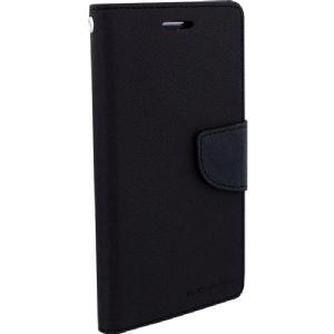 SDO Luxury Mercury Diary Wallet Style Flip Cover Case for Micromax YU Yureka Plus - Black