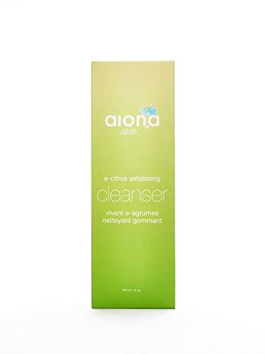 Aiona Alive Skincare Nettoyant antibactérien exfoliant et anti-acnéique (désinfectant pour le visage et les vitamines) 100% naturel pour les pores des hommes et des femmes 6 onces (180 ml)