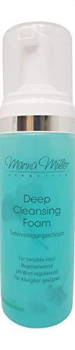 Marina Müller Cosmetics-Reinigungsschaum-Gesicht Reiniger Mousse, für jede Haut- Tiefenreinigungsschaum Deep Face Cleansing Foam Made in Germany -