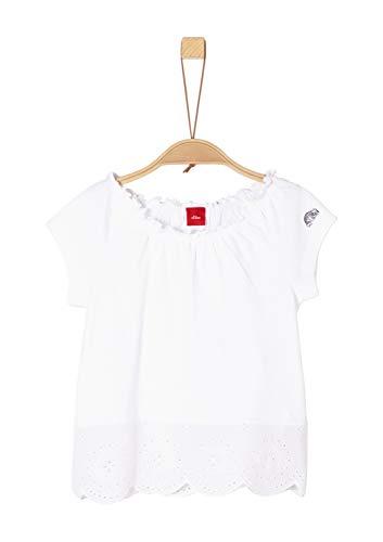 s.Oliver s.Oliver Mädchen 53.903.32.5466 T-Shirt, Weiß (White 0100), 92 (Herstellergröße: 92/98/REG)