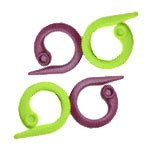 30 Stück Ringmarkierer (Maschenmarker) Split Ring - grün und lila (Split-ring-marker)