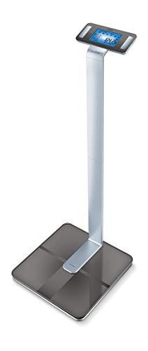 Beurer BF 1000 SuperPrecision Diagnosewaage, Überkreuzmessung mit 8 Elektroden, präzise Ganzkörperanalyse, Messung des viszeralen Fettanteils, App-Anbindung, zertifizierter Datenschutz