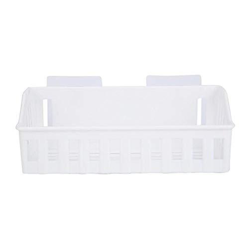 Element Aluminium Lagerung (Wandregal für Badezimmer Shampoo-Regal aus Kunststoff Kosmetikregal für die Küche Weiß)