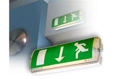 """d'urgence éclairage Maintained d'urgence ajustement avec interne """" HOMME QUI COURT """" symbols. MAX 8 Watt"""