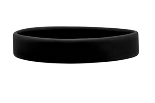 J&R Silicone Wristbands, Youth sizes, variety colours 10 Pack