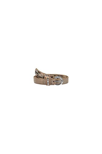 GUESS JEANS CINTURA IN PELLE Donna BEIGE
