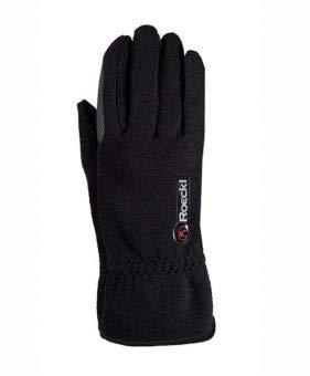 Roeckl Sports Junior Winter Handschuh Kairi, Kinder Reithandschuh, Schwarz, 6