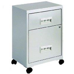 Cajonera Combi metálica gris 2 cajones 400X400X570 mm
