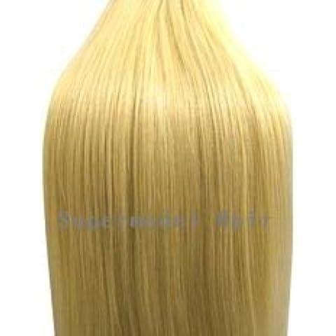 45,72 cm de la India de Remy para el pelo de la extensión trama para coser diseño con motivos geométricos o pegamento de tinta a color y diseño con motivos geométricos-natural rubia de 22