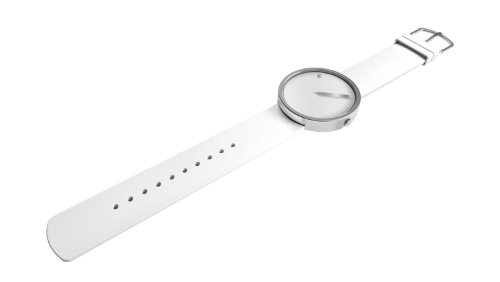 Rosendahl Timepieces - Reloj analógico de cuarzo unisex con correa de silicona, color blanco