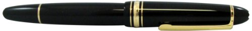 This brilliant rollerball pen by Montblanc made with black resin, made for unisex, gold plated, Meisterstueck LeGrand 11402