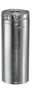 Simpson Duravent Vent Pipe B-Vent Gas 4 Id X 2 Ft. Galvanized Al Ul by DuraVent (B-vent Pipe)